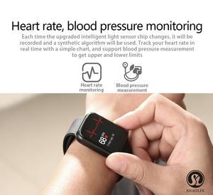 Image 5 - ساعة يد ذكية من سلسلة 4 مزودة بخصم 50% ساعة يد ذكية لهواتف أبل 5 6 7 آيفون أندرويد هاتف ذكي مزود بمراقب لنبضات القلب (زر أحمر)