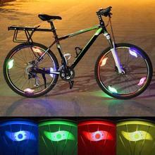 Bicicleta à prova dwaterproof água falou luz 3 modo de iluminação led bicicleta roda luz fácil de instalar bicicleta segurança aviso lâmpada luzes equitação