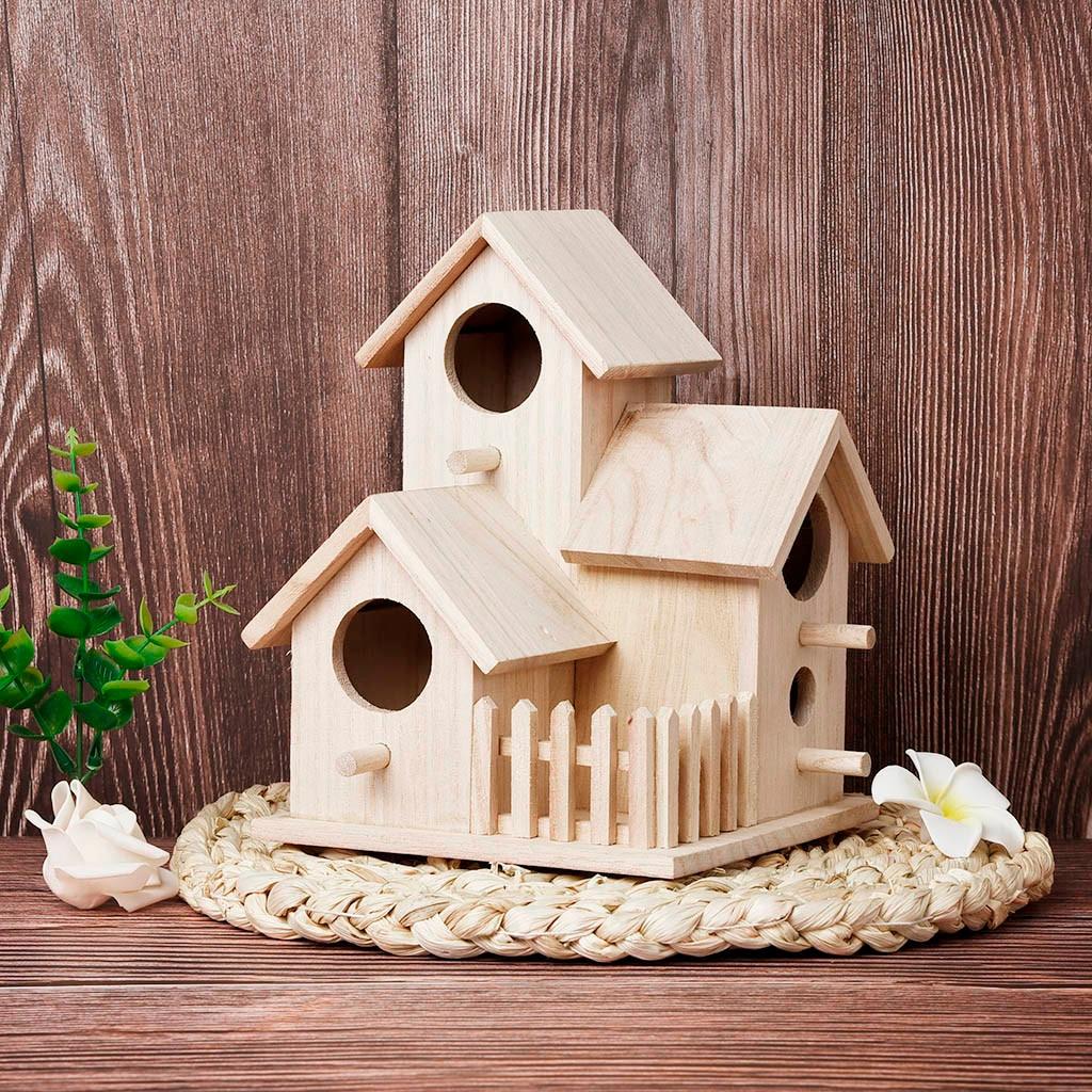 Large Nest Dox Nest House Bird House Bird Box Handmade Wooden Box Cage Outdoor Birdhouse Garden Yard Hanging Pet Products Crafts