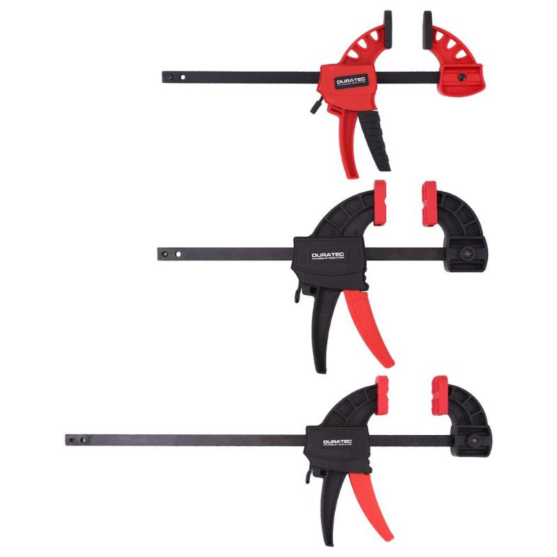 DURATEC Quick Release F Clamp Woodwork Carpenter Engineering Plastics Clamps Woodworking Tool With RoHS And REACH Standards