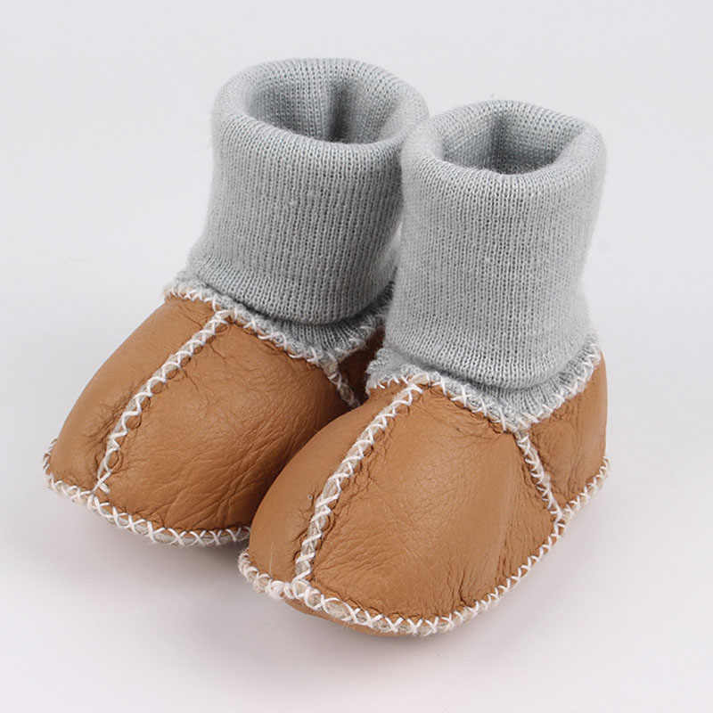 New Style Newborn Ball Toddlers Baby Shoes Warm Boots First Walkers Infant