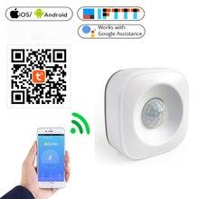 Akıllı yaşam Zigbee Intellige WiFi PIR hareket sensörü ev güvenlik için kablosuz izleme desteği Google ev duyarlı algılama