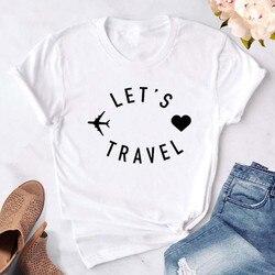 Женская футболка для путешествий, забавные повседневные футболки с коротким рукавом, женские хипстерские топы, футболки, уличная одежда