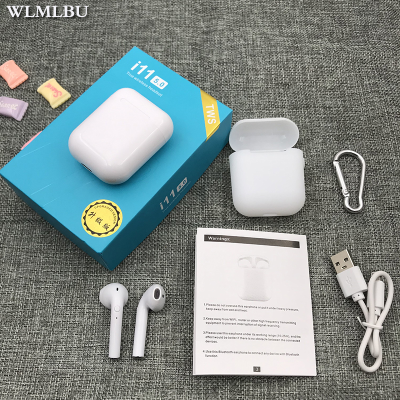 i7s i9S <font><b>TWS</b></font> Wireless <font><b>Bluetooth</b></font> <font><b>5.0</b></font> Earphone Stereo <font><b>I11</b></font>-touch Earbud Headset with Charging Box Mic for Iphone All Smart Phone image