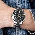 Corgeut Роскошные брендовые автоматические мужские часы 41 мм  деловые часы из нержавеющей стали с сапфировым стеклом  водонепроницаемые мужск...