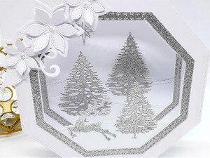 Image 3 - 2 Set Large Cutting dies Stitched Octagon & Hexagon Cardmaking Scrapbook Paper Craft DIY Metal Stencil Surprise Creation dies