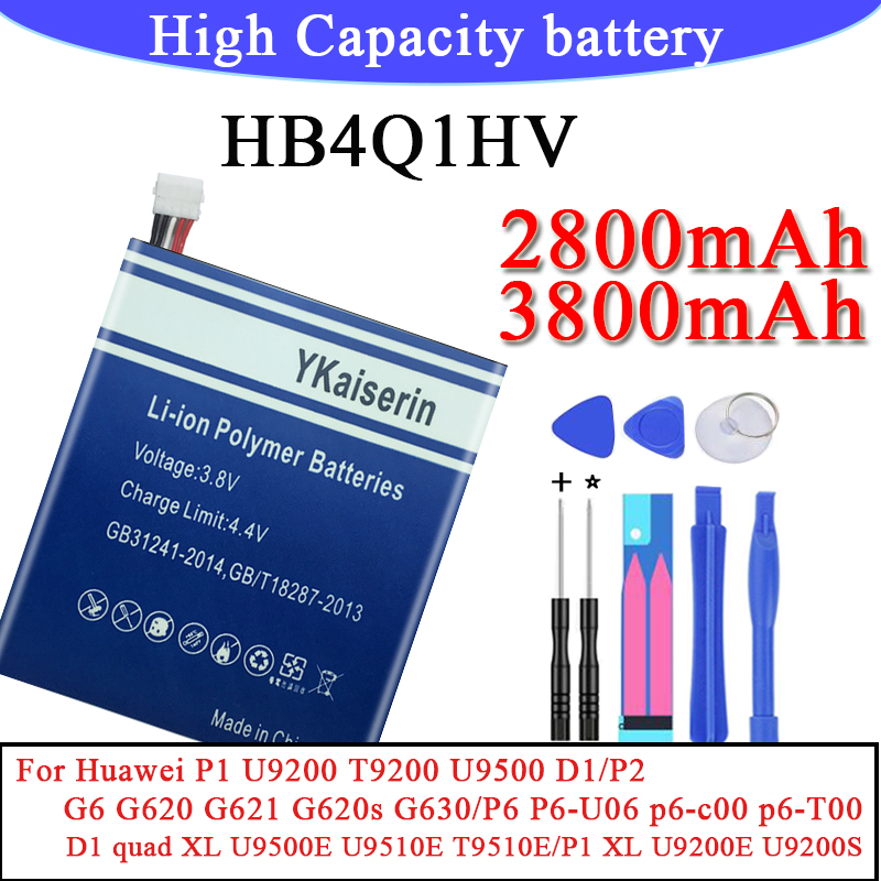 High Quality HB3742A0EBC Phone Battery For Huawei Ascend P2 /P1 U9200 T9200 U9500 D1/P1 XL U9200E U9200S/ P6 P6-U06/G6 G620(China)