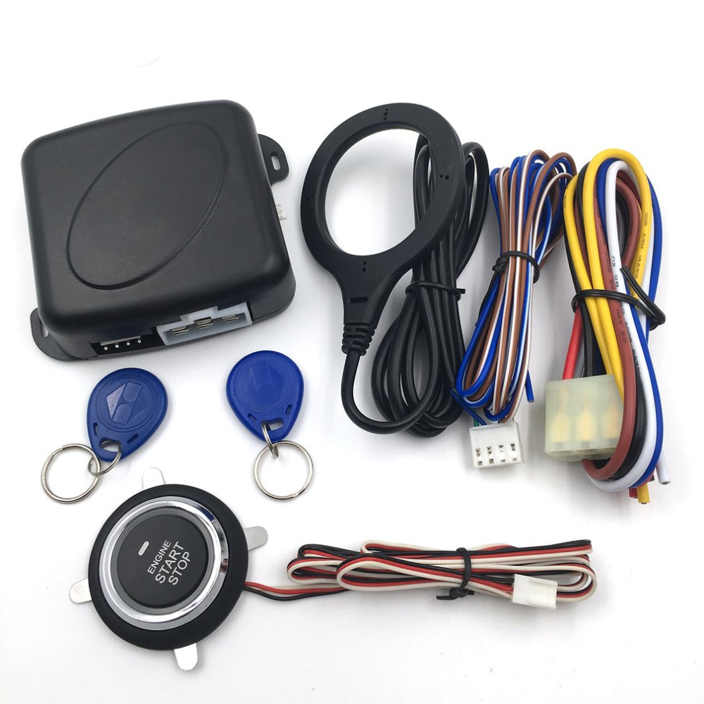 Car Anti-theft System Keyless Entry System Starter Alarm Engine Push Button Start Stop RFID Lock Ignition Switch Drop Shipping