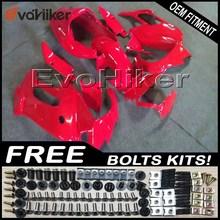 Заказной обтекатель мотоцикл кузов комплект для VFR1000F 1997-2005 ABS мотоциклетные панели красный+ подарки