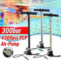 Folding 30mpa 4500PSI 3 Stage Hand Operated PCP Pump Mini High Pressure Compressor For Car Bicycle Hunting diving with Filter