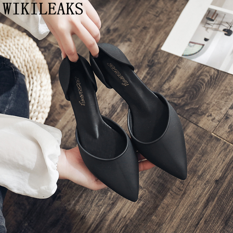 Pointed Heels Fashion Low Heel Shoes Elegant Shoes For Woman Party Shoes Chaussure Mariage Femme Buty Damskie Туфли На Каблуке 3