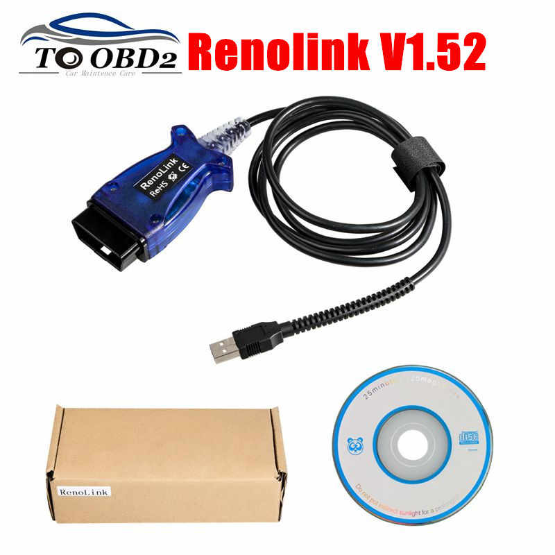 Renolink V1.52 For Renault Usb Wire ECU Programmer Programming Airbag Reset Tool