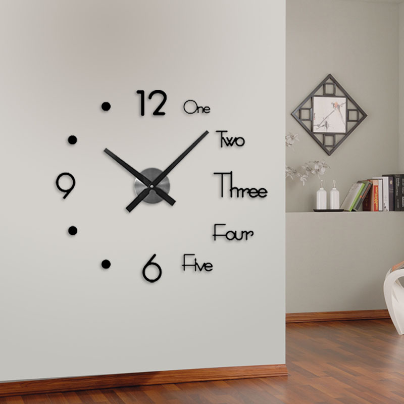 Wall-Clock Acrylic Mirror Home-Decor Living-Room Nordic Modern-Design Large DIY 3D title=