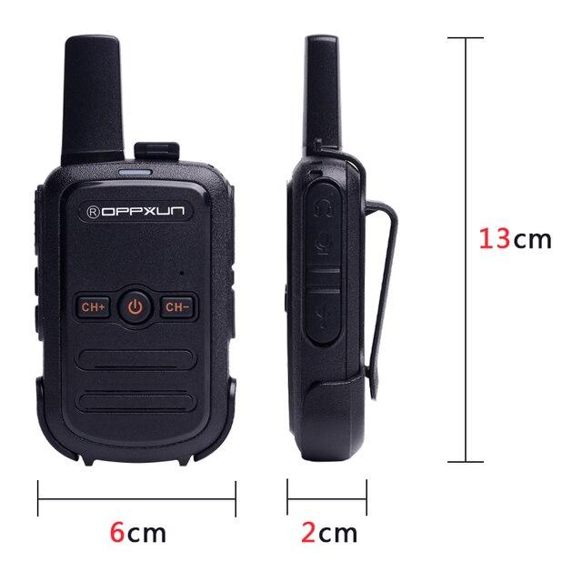 2pcs OPPXUN C51 MINI Walkie Talkie Portable Ham Radio Station Telsiz Headset Transceiver Children Long Range cb Radio Telefon CD 2