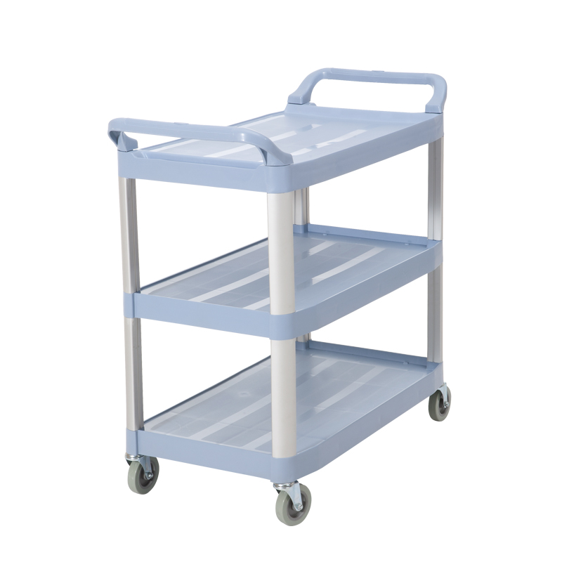 Baiyun Cleaning AF08161 Hotel Mobile Dining Car European Plastic Snack Tea Cart Three-tier Cart Rack