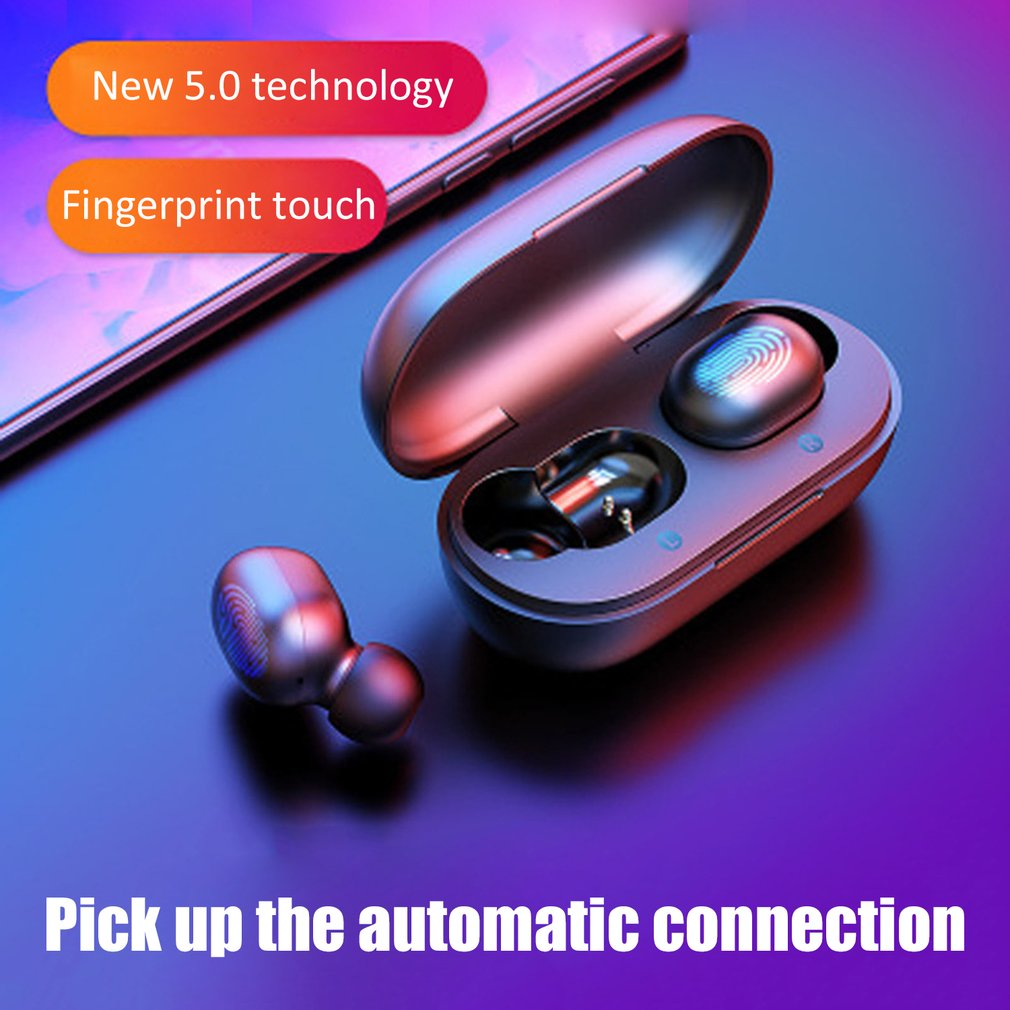 GT1 TWS Fingerprint Touch Bluetooth Earphones, HD Stereo Wireless Headphones,Noise Cancelling Gaming Headset