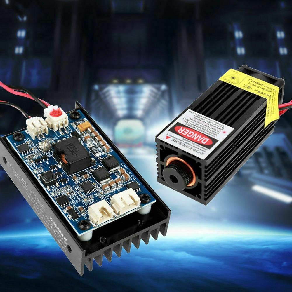 Новое поступление 1 комплект 15WB лазерная головка гравировальный модуль с TTL 450nm Blu Ray деревянная маркировка резка для деревообрабатывающего