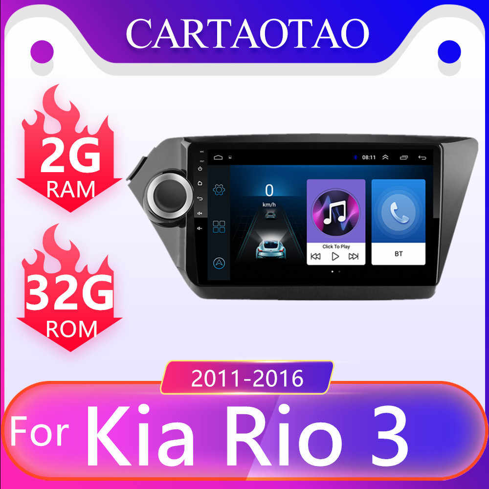 "2 Din Android 8.1 Voor Kia Rio 3 & 4 Auto Multimedia Video Player 9 ""Touch Screen Gps Stereo navigatie Wifi Speler Ram 2G + Rom 32G"