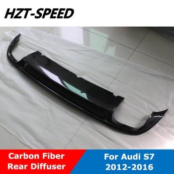 S7 Carbon Fiber Back Bumper Lip Spoiler Rear Diffuser For Audi A7 Sline Not For Standard Car 2012-2016