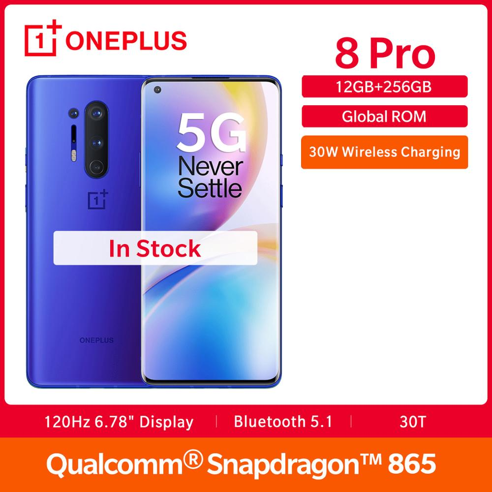 In Lager OnePlus 8 Pro 5G Globale Rom <font><b>12GB</b></font> <font><b>RAM</b></font> 256GB ROM Snapdragon 865 120Hz Display 6.78