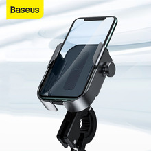 Baseus Bicycle Phone Holder Motorcycle Handlebar Support Moto Bicycle Rear View Mirror Stand Mount Motor Bike Phone Holder