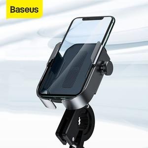 Image 1 - Baseus Bicycle Phone Holder Motorcycle Handlebar Support Moto Bicycle Rear View Mirror Stand Mount Motor Bike Phone Holder