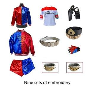 Отряд Самоубийц Harley Quinn, полный комплект из 9 предметов, монстр 2016, Harley Quinn, карнавальный костюм, женская футболка