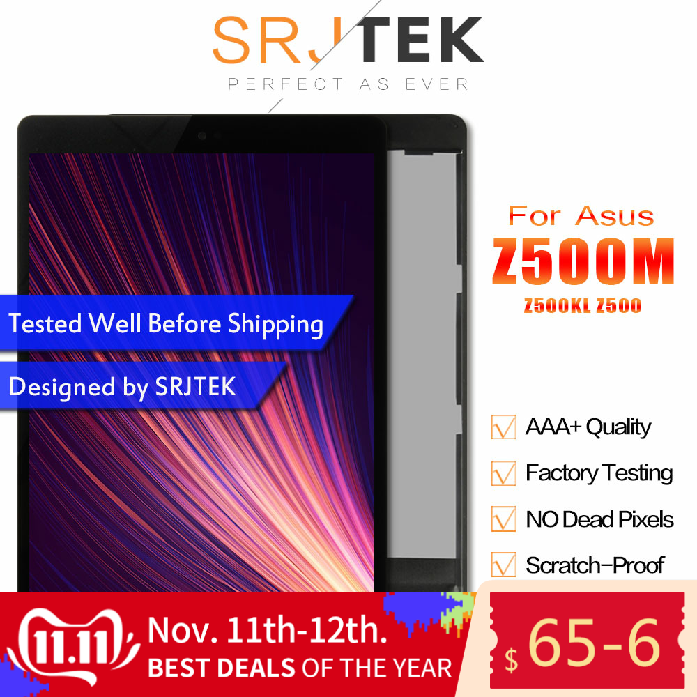SRJTEK For ASUS ZenPad 3S 10 Z500M P027 Z500KL P001 Z500 LCD Display Matrix Touch Screen Digitizer Sensor Tablet PC Assembly
