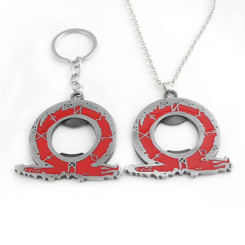 Classic Game God Of War Necklace Kill God Kratos Symbol Of Rights Zinc Alloy Pendant For Player Fashion Accessories image