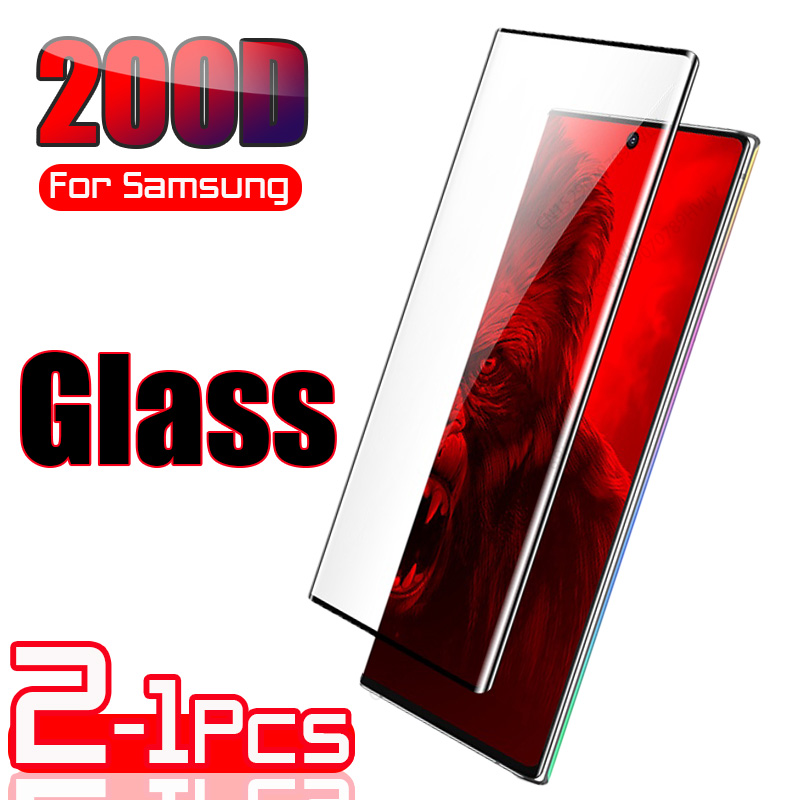 2-1 шт. закаленное стекло для Samsung Galaxy S10 Plus стекло S9 S8 защита для экрана S20 Plus S10e S 9 8 10 e Note 20 Ultra Note 9 10
