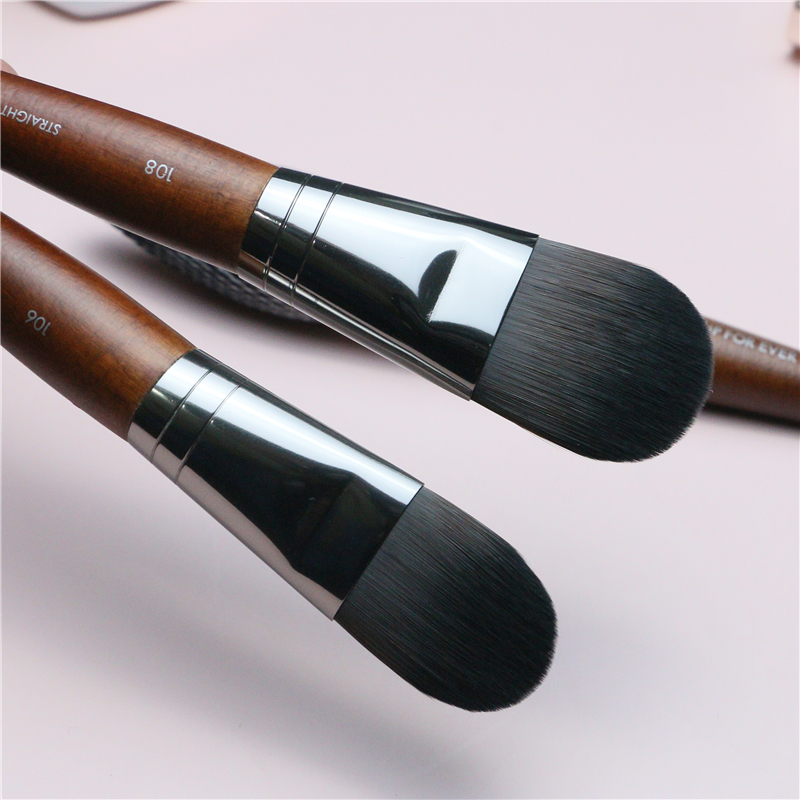 Pro Foundation Brush High Quality Synthetic Hair Makeup Large Tongue Type Liquid BB Cream Contour Smudge Foundation Makeup Brush