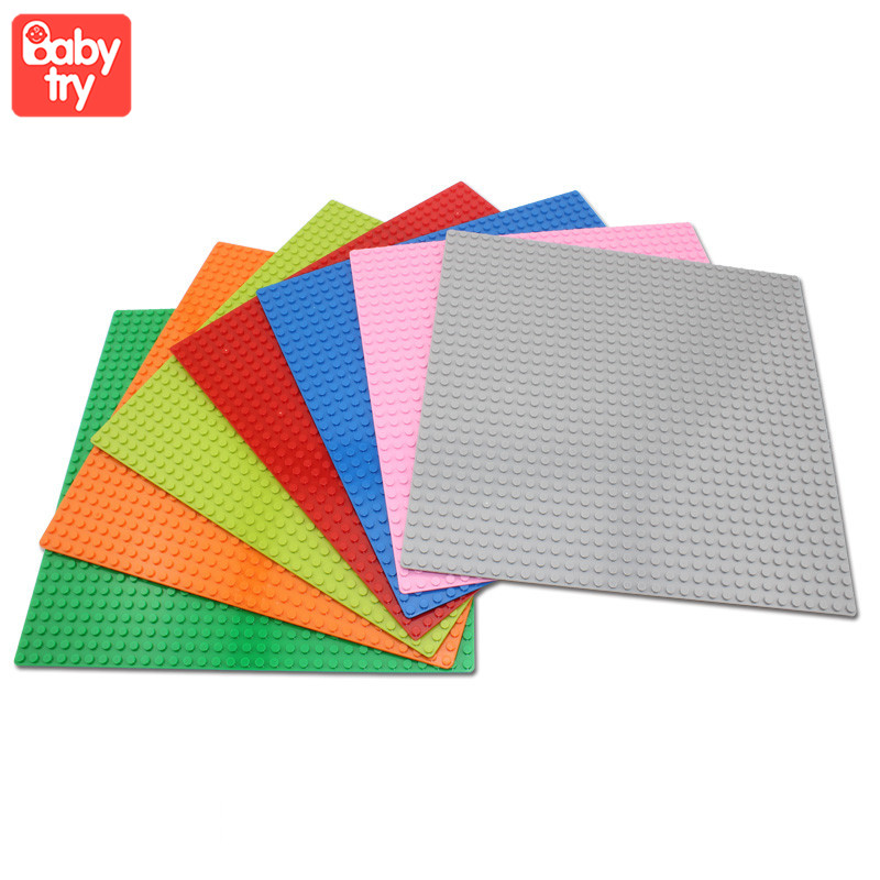 32*32 Dots Classic Base Plates Plastic Bricks <font><b>Baseplates</b></font> Fit Legoinly City Building Blocks Construction Toys Base Plates <font><b>32x32</b></font> image