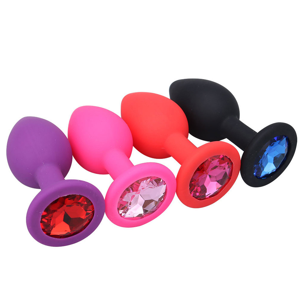 Silicone Anal Plug Butt Plug Unisex Plated Jewelry Sex Stopper Prostate Adult Toys For Men Women Anal Trainer For Couples