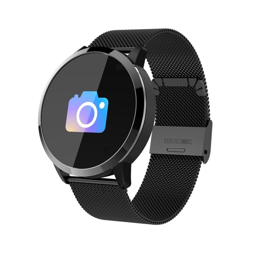 День Святого Валентина Лидер продаж лучший подарок Q8 Смарт часы из нержавеющей стали водонепроницаемые носимые устройства Smartwatch для