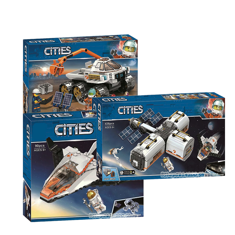 2020 NEW STYLE 60224 Space Satellite Task City Space Series Rover Mars Exploration Boy Building Block Toy Gift Educational Toy