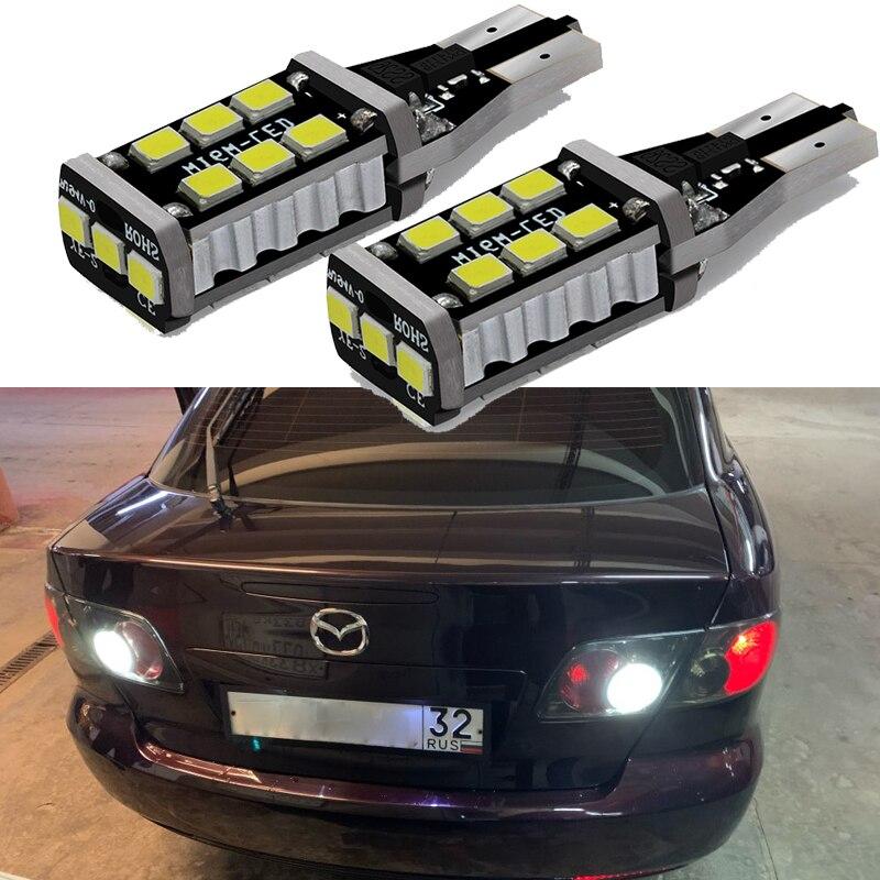 2 шт. Canbus W16W T15 921 912 запасной светильник Светодиодный лампа заднего хода для Mazda 3 5 6 8 8, светодиодный автомобильный светильник s для Mazda 3 5 CX5 CX 5 M8...