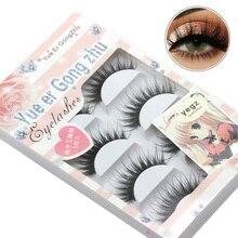 Handmade 5 Pairs Natural False Eyelashes Fake Lashes Long Makeup 3d Mink Lashes Eyelash Extension Mink Eyelashes For Beauty недорого