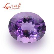 Овальная форма фиолетовый цвет натуральный разрез Красивый природный