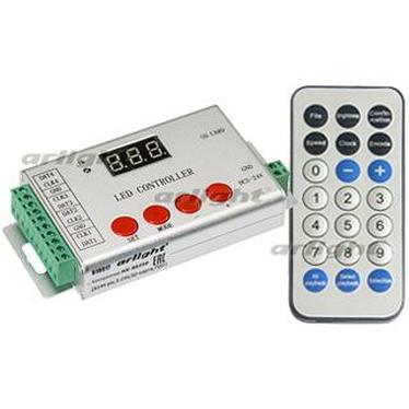 022992 Controller HX-802SE-2 6144 Pix 5-24 V, SD Card, REMOTE CONTROL) ARLIGHT 1-pc