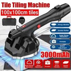 Vibrador de 600W para azulejos 100x100cm máquina de enyesado de baldosas ponedoras con batería de 1x300mAh nivelación automática del vibrador del suelo