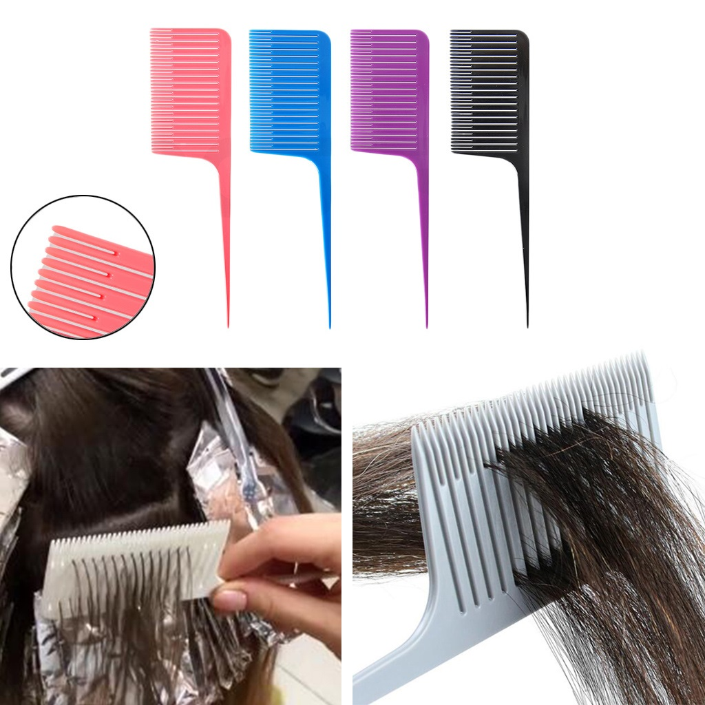 Professional Plastic One-way Weave Highlighting Foiling Hair Comb Salon Tool Hair Dye Comb Highlight Comb