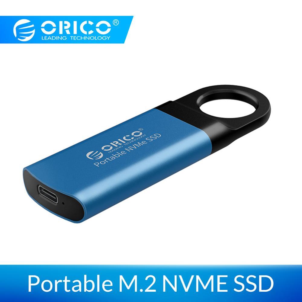 ORICO мини внешний SSD ТБ 128GB 256GB 512GB M2 NVME мобильный портативный SSD USB C 3,1 10 Гбит/с Внешний твердотельный накопитель