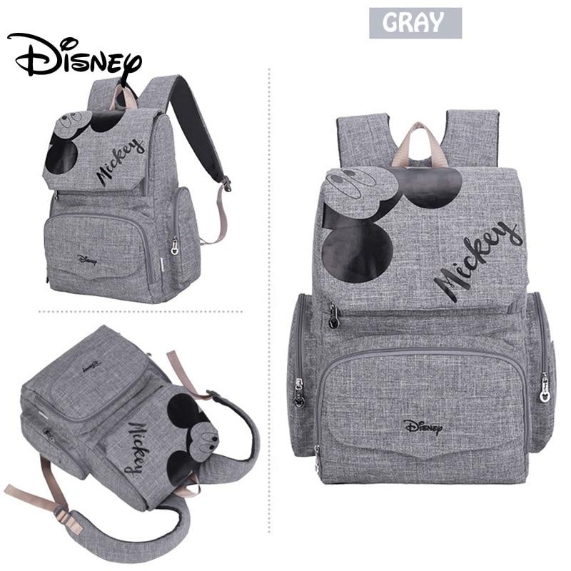 Disney Baby Diaper Bag Backpack Mummy Maternity Bag Multi-function Baby Bag For Mommy In Nappy Bag Stroller Large Capacity Bag