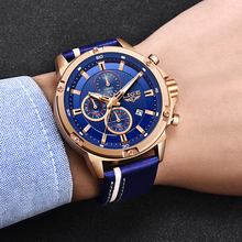 2020LIGE New Fashion Mens Watches Top Brand Luxury Big Dial Military Quartz Watch Leather Waterproof Watch Men Relogio Masculino