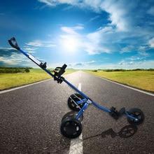 Golf  Cart Lightweight    3 Wheels Foldable Golf Club Push  Cart