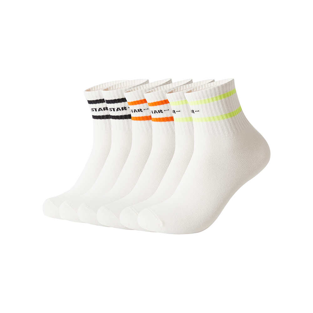 Metersbonwe 6 คู่/ล็อต 2020 ฤดูใบไม้ผลิฤดูร้อนใหม่ผู้ชายฝ้ายถุงเท้าผู้ชายกีฬาลำลองสีปานกลางถุงน่องชาย