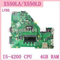 X550la placa-mãe I5-4200 cpu 4gb ram para asus a550l x550ld r510l x550lc x550l x550 portátil placa-mãe x550la teste de mainboard ok