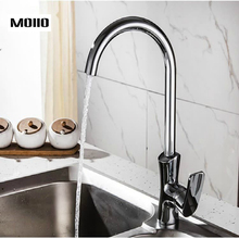 цены MOIIO Kitchen Faucet 360 Degree Swivel Stainless Steel Kitchen Sink mixer Single Handle torneira Hot & Cold kitchen Sink Faucet