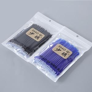 Image 5 - 100 шт./пакет Волшебные стержни для стираемой гелевой ручки, иглы 0,5 мм черные/синие чернила, стирающиеся ручки с ластиком, офисные и школьные принадлежности