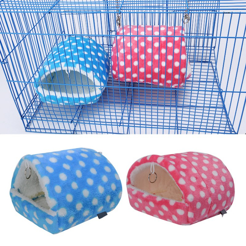 2018 <font><b>Plush</b></font> Soft <font><b>Guinea</b></font> <font><b>Pig</b></font> House Bed Cage for Hamster Mini Animal Mice Rat Nest Bed Hamster House Small Pet Products image